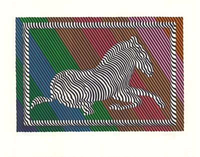 Victor Vasarely Zebra No. 3 (I) Lithograph