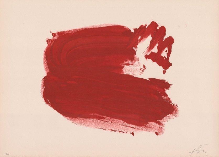 Antoni Tapies Lithographie Clau del Foc IV