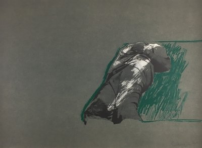 Rafael Canogar Original Print Figur Auf Gras