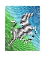 Victor Vasarely Grafik Zebra No. 2 (II)