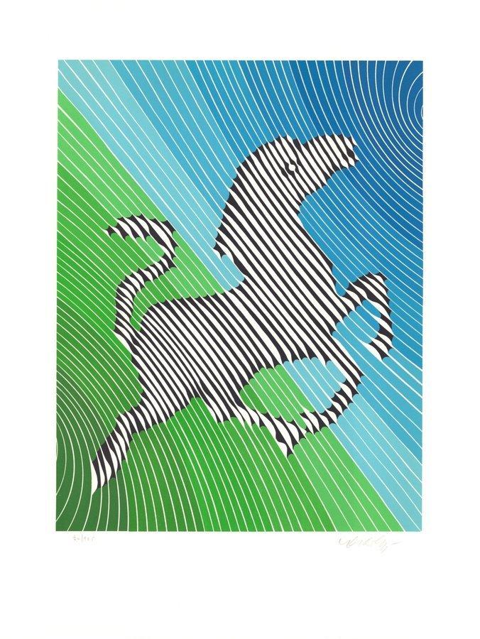 Victor Vasarely Print Zebra No. 2 (II)