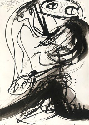Walter Stöhrer Drawing Untitled IX 1995