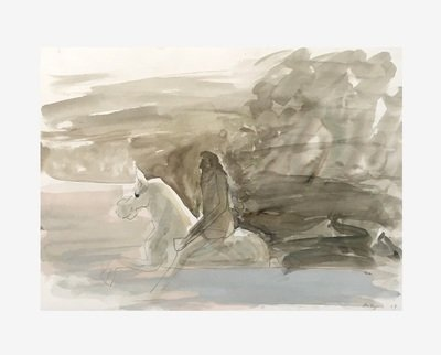 Siegfried Anzinger Watercolor Untitled I 2004
