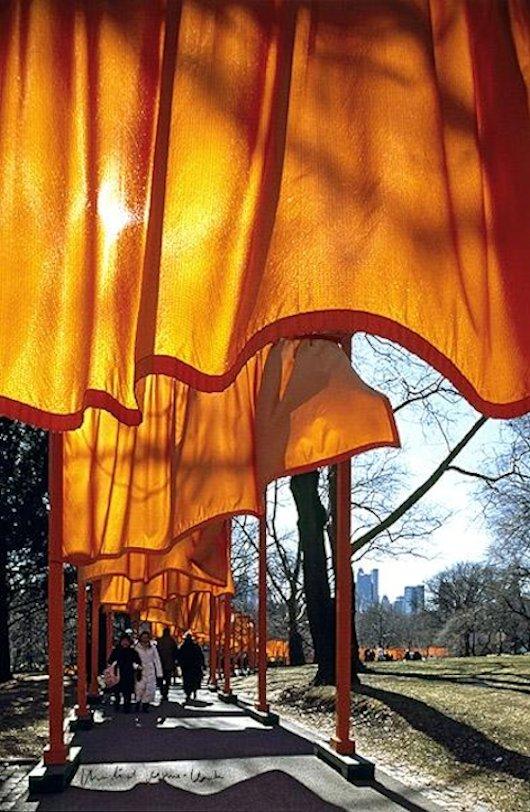 Christo und Jeanne-Claude The Gates 51 Druck