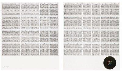 Hanne Darboven 24 Gesänge Grafiken Siebdrucke