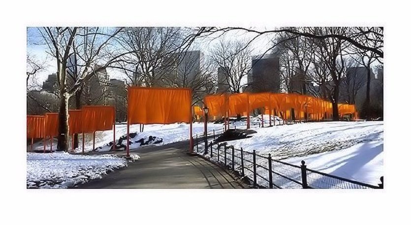 Christo and Jeanne-Claude The Gates Weggabelung Photograph