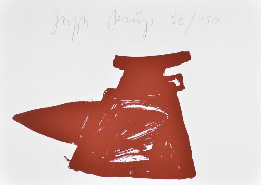 Joseph Beuys Print Zeichen aus dem Braunraum o.T. II