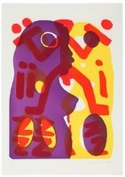 A.R. Penck Original Grafik Radierung Serie II Du