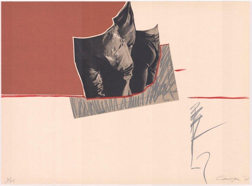 Rafael Canogar Druck Komposition mit drei Figuren