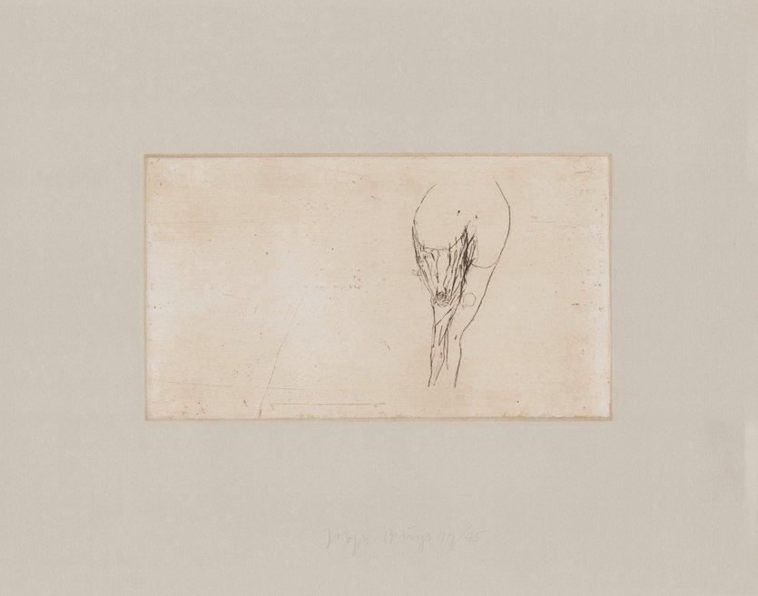 Joseph Beuys Frauentorso Tränen Grafik