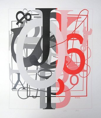 Christopher Wool o.T. II Grafik Siebdruck