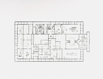 Mark Manders Provisional Floor Plan: Self Portrait as a Building 7-5-2002