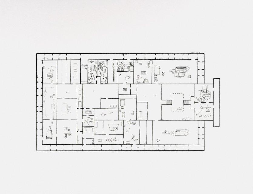 Mark Manders Provisional Floor Plan: Self Portrait as a Building 7-5-2002