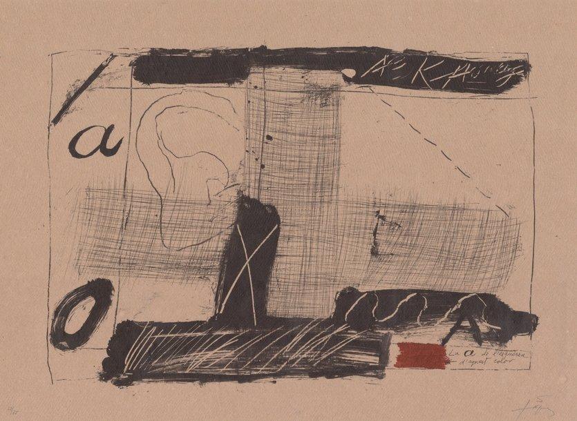 Antoni Tapies Print Llambrec Material II