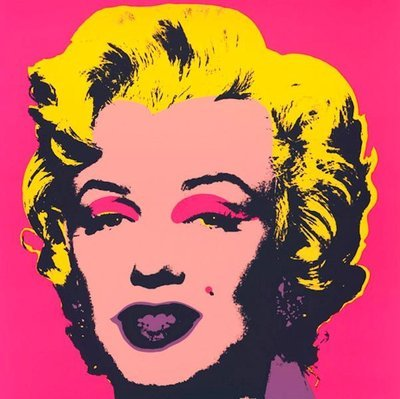 Andy Warhol Marilyn Pink Serigraph Sunday B. Morning