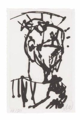 Markus Lüpertz Etching Print Ohne Titel (Petrus)