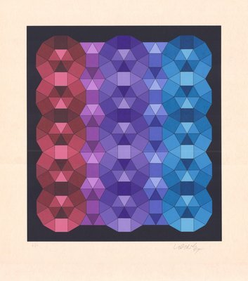 Victor Vasarely Lithograph YKA III