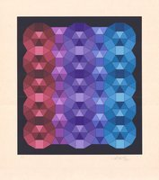 Victor Vasarely Lithographie YKA III