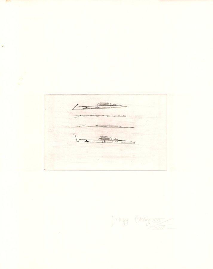 Joseph Beuys Urschlitten I Zirkulationszeit Grafik