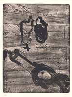Antoni Tapies Druck Grafik Improvisations en blanc i negre VI