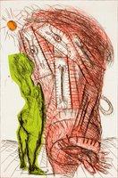 Markus Lüpertz Otello II Grafik Radierung