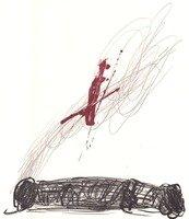 Antoni Tapies Lithograph Rouge Sur Crayon