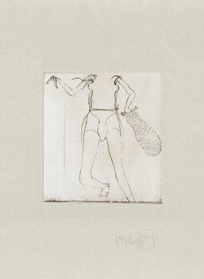 Joseph Beuys Zirkulationszeit: Taucherin Grafik