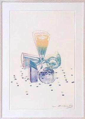 Andy Warhol Committe Champagner Grafik Siebdruck