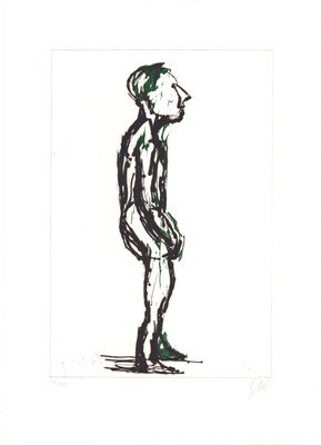Markus Lüpertz Hiob (dark green) Print Etching