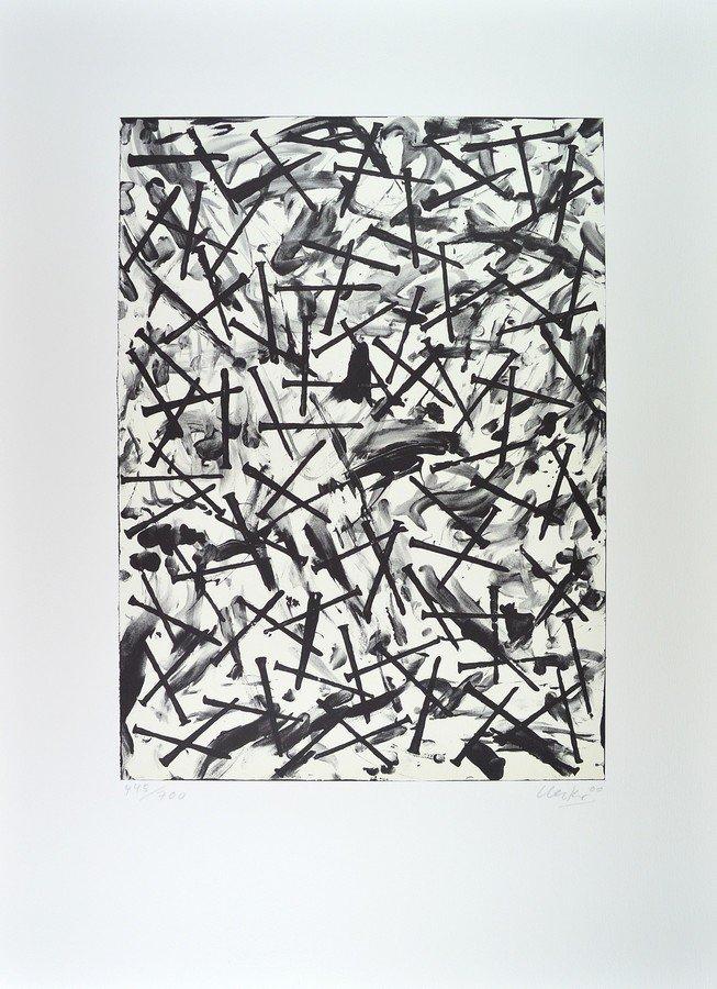 Günther Uecker Verletzungen - Verbindungen (light) Print