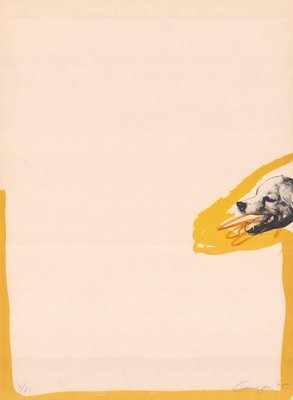Rafael Canogar Grafik Werk Huldigung an Goya