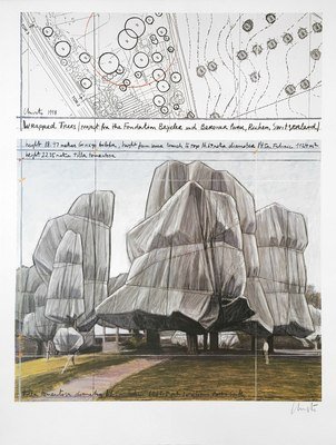 Christo Wrapped Trees Nr.III Druck