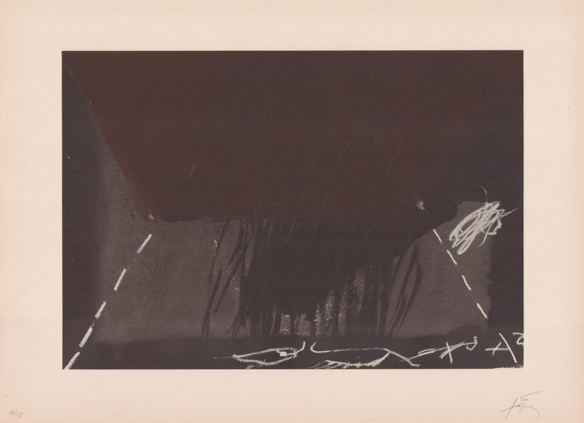 Antoni Tapies Print Clau Del Foc XII