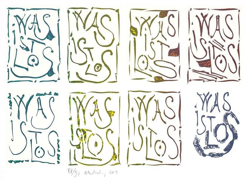 Pierre Alechinsky Grafik Lithographie Was ist los