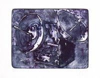 Tony Cragg Receiver II Blue Lithograph Print