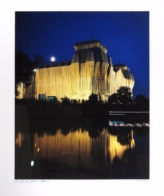 Christo and Jeanne-Claude Reichstag Berlin III Wrapped Photograph