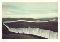 Christo and Jeanne-Claude Running Fence Photograph Serigraph