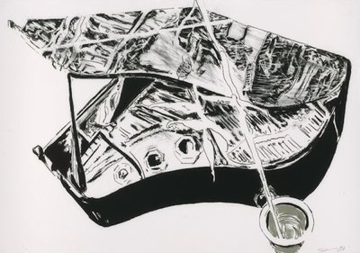 Norbert Tadeusz Unikat Lithographie Flügel (Andruck)