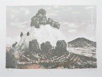 Matthias Weischer Berg Grafik Farblithographie