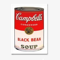 Andy warhol campbells soup black bean sunday b morning 3137 small