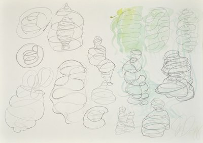 Tony Cragg Drawing o.T. I Composition