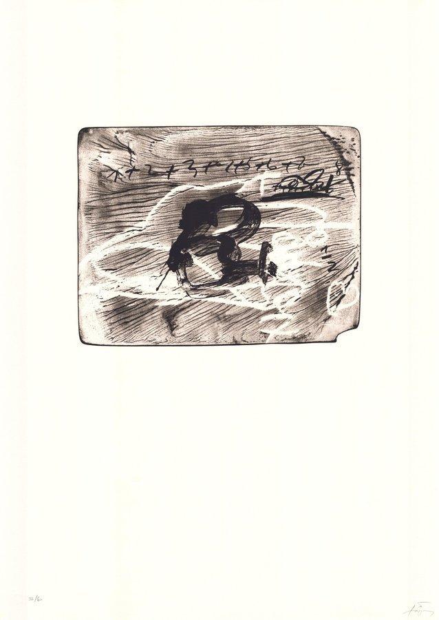 Antoni Tapies Print Improvisations En Blanc I Negre I