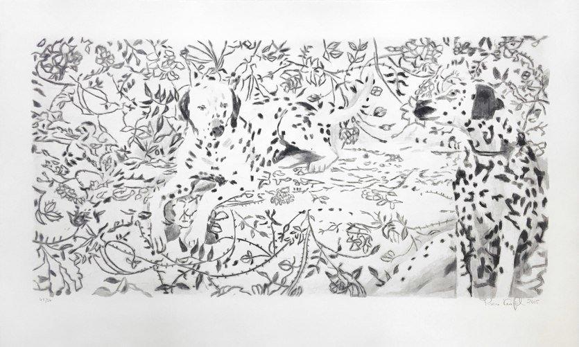 Karin Kneffel Print Etching Ohne Titel