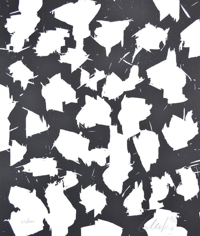 Günther Uecker Lichtungen I Print Woodcut