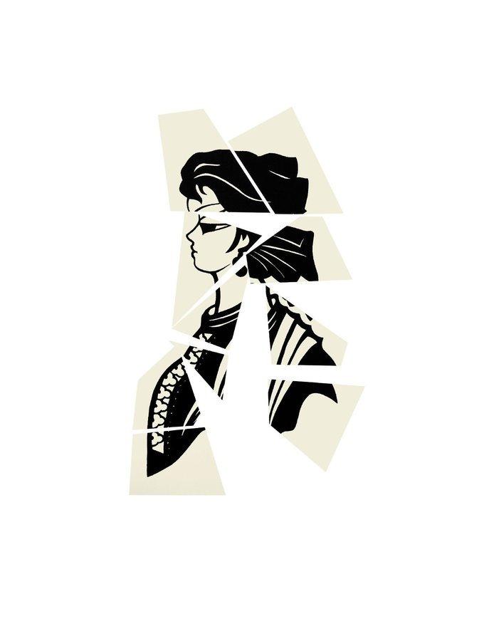 Liliana Porter Chinese Cubist I Lithographie Grafik