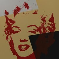 Andy Warhol Golden Marilyn X Serigraph Sunday B. Morning