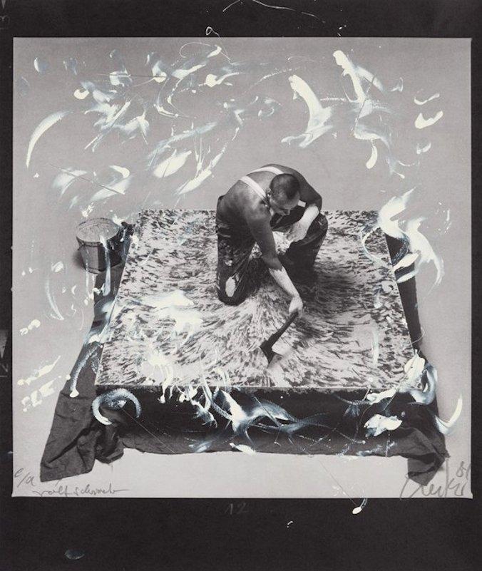 Günther Uecker Unique Print Entwicklung eines Werkes II
