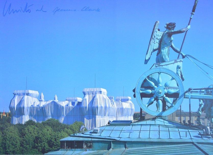 Christo And Jeanne-Claude Reichstag Vom Dach Des Brandenburger Tors Print