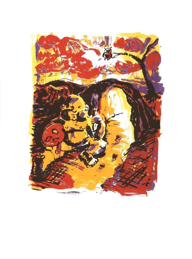 Jörg Immendorff Wächter Print Serigraph