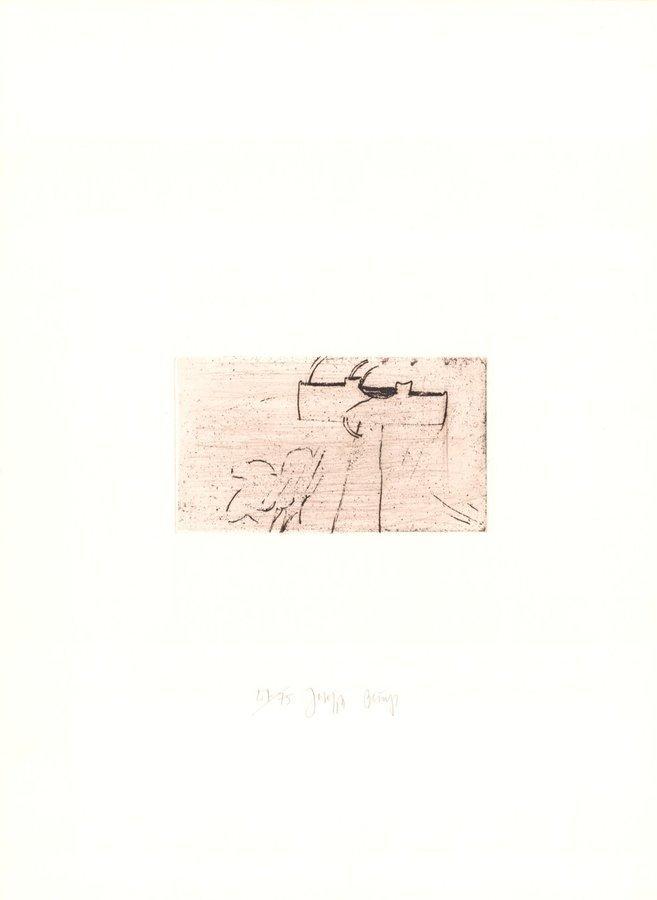 Joseph Beuys Original Grafik Zirkulationszeit: Kreuz für Saturn